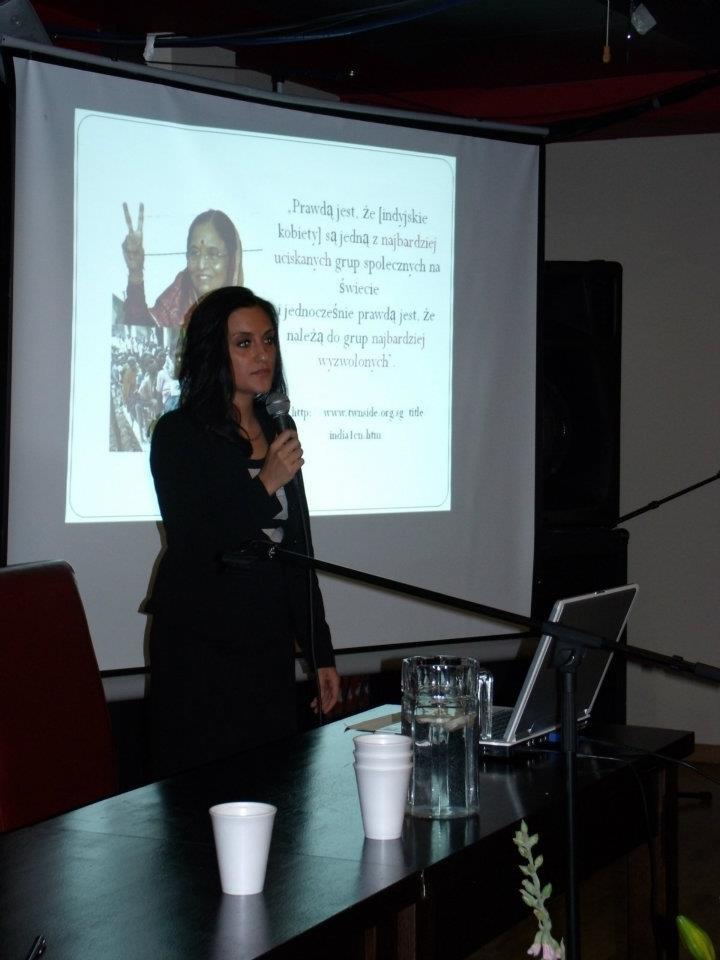 Anika Kumar na konferencji PUNO