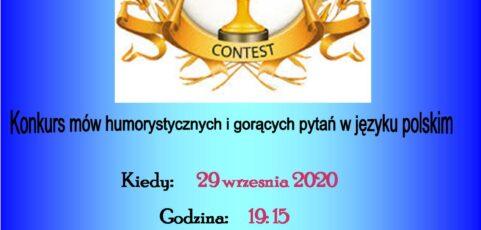 Konkurs mów humorystycznych i gorących pytań w języku polskim