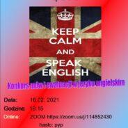 16 lutego- Konkurs mów i ewaluacji w języku angielskim